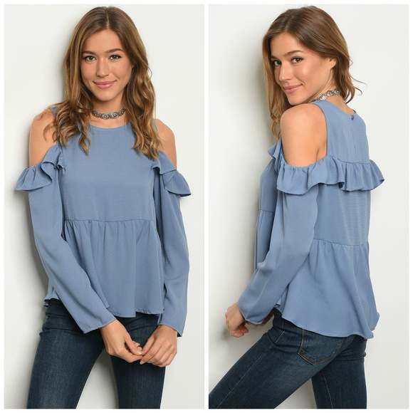 Le Lis Tops - 3 FOR $40 • Ruffle Sleeve Cold-Shoulder Top